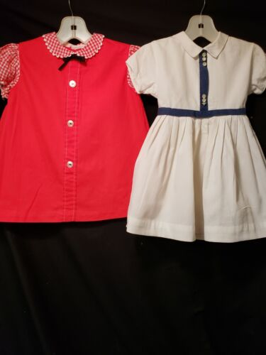 Lot Of Two Vintage Girl Dresses ~ Nannette, it Must Be Love Sz 3