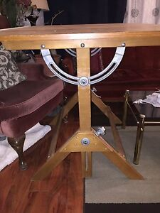 Used Drafting Table John Woods Tilting Drawing Desk