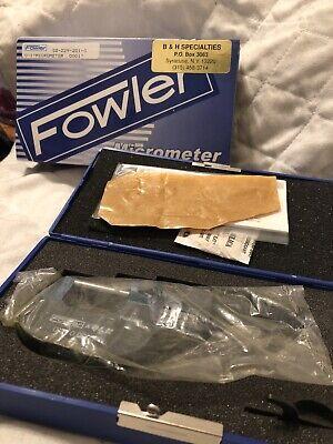 Fowler Qlr 0-1 0.0001 Ez Read Micrometer Digit Tube Od Micrometer