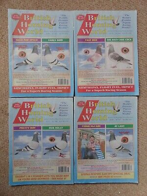 4x British Homing World racing pigeon birds magazines back issue April 2019