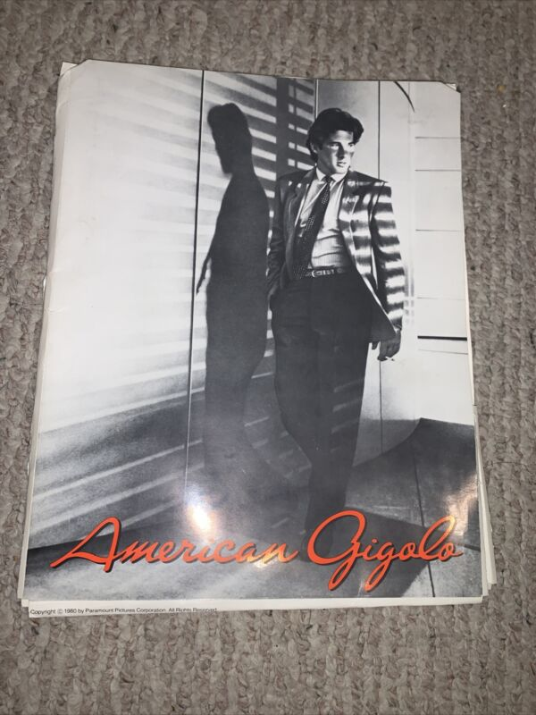 REAL USED IN PRODUCTION AMERICAN GIGOLO (1980) RICHARD GERE ORIGINAL PRESS-BOOK