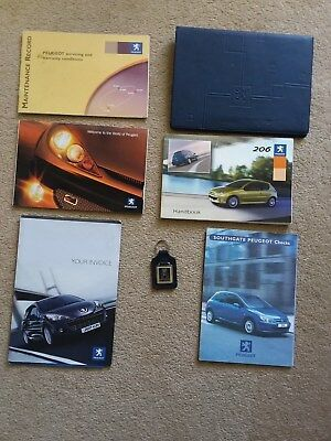 Peugeot 206 Handbooks Document wallet key fob