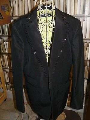 """Dsquared2 Embellished BEAD LAPEL SILK AND COTTON BLAZER.SZ50.""""COWBOY"""" COLLECTION"""