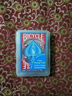 Bicycle Clear Plastic Poker Playing Cards - BLUE/TEAL - New Waterproof Bicycle Clear Plastic Poker