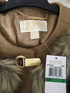 Michael Kors Faux Coyote Fur Jacket NWT Tiffany Bracelet