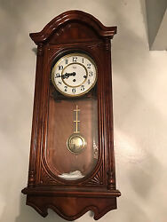 Sligh Westminster chime wall clock regulator