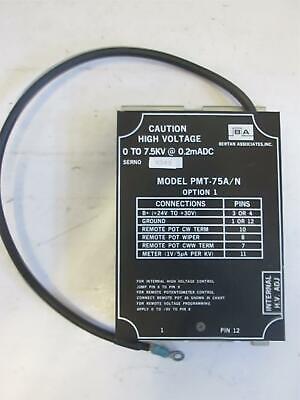 Bertan Associates High Voltage Power Supply Pmt-75an Used