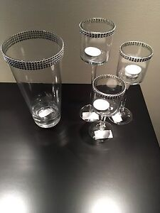 Bling Stem Candle Holders (matching case) Sarnia Sarnia Area image 2