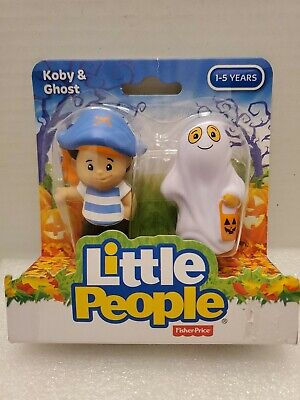 Fisher Price Halloween Little People Koby & Ghost New In Pkg 2015 Mattel