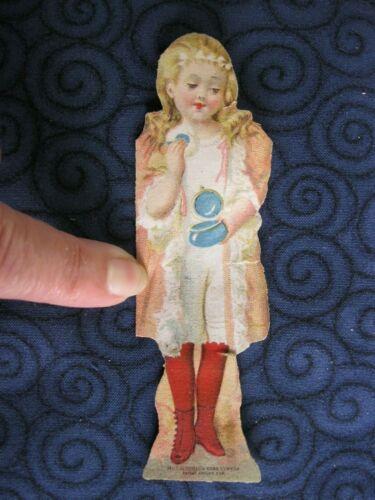 Victorian Trade Card 1894 McLaughlins XXXX Coffee Paper Doll Girl Powders 64