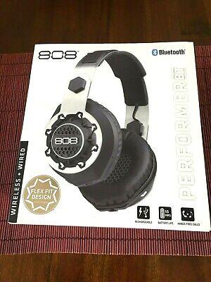 808 AUDIO PERFORMER BT Bluetooth Black Wireless + Wired Headphones
