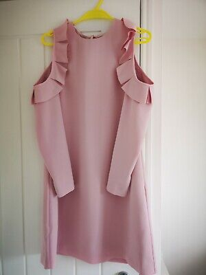 Ted baker Cold Shoulder Dress Size 3 in Dusty Pink New With Tags