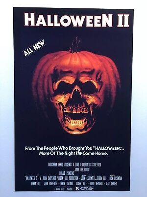 Halloween II Theatrical Release 11x17 Movie Poster (1981)](Halloween Ii Movie 1981)