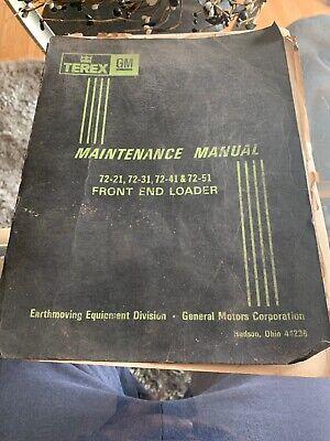 Terex Front End Loader Maintenance Maunual