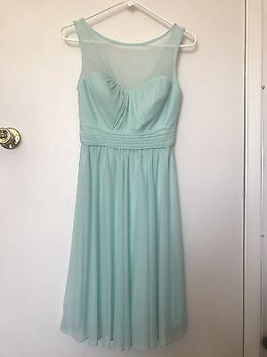 Davids Bridal mint knee length formal bridesmaid dress size 2](Davids Bridal Mint)