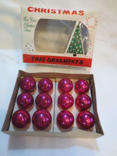 LOT 12 VTG Christmas Feather Tree Mini Mercury Glass Ball Ornaments 25mm Japan
