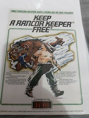 Vintage star wars palitoy Return of the Jedi competition flyer / leaflets! RARE