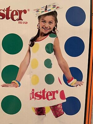 Twister Girl Halloween Costume (NEW- Twister Kids Size M (7-8) Halloween Costume Dress With)
