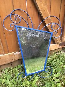 Blue funky mirror