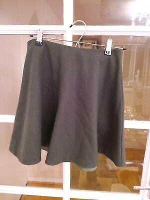 KATE SPADE Saturday ladies green wool swing flared mini skirt size 2/small