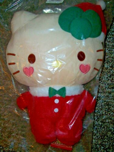 "NWT 12"" Hello Kitty Christmas Neko Cat Red Santa Costume Plush Toreba Sanrio"