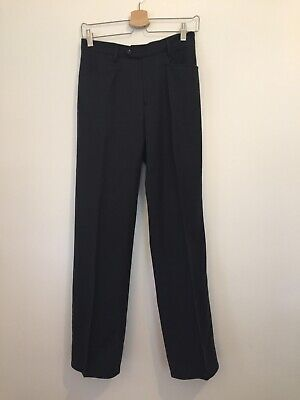 Joseph Trousers Large Grey 100% Wool Fits UK 12 Suiting Business Work Office
