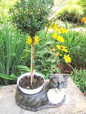 """Antique Cast Iron Cat Food Or Water Bowl Dish Feeder Or Planter Vintage 13"""" Long"""
