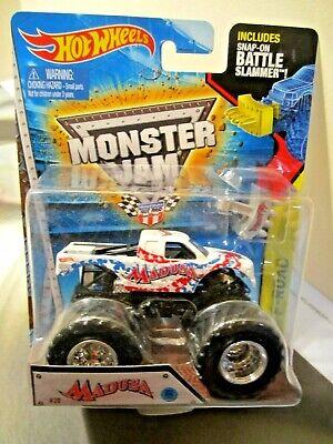 Hot Wheels Monster Jam Truck 1:64 scale 2015 New Look Madusa & Battle Slammer