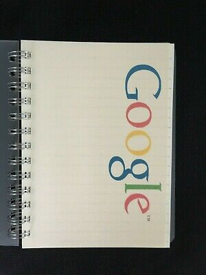 Google Logo Small Lined Spiral Notebook 100 Sheets Plastic Cover