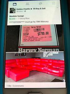 6 seater recliner leather couch with 4cup holders/storage Ulverstone Central Coast Preview