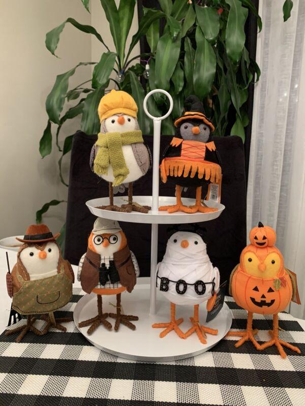 Target Hyde & Eek Featherly Friends Fabric Birds Halloween & Harvest 2 Sets 2021