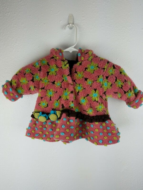 Corky & Company Girls Toddler Jacket 2T? Dusty Pink Green Blue Floral Hooded A2