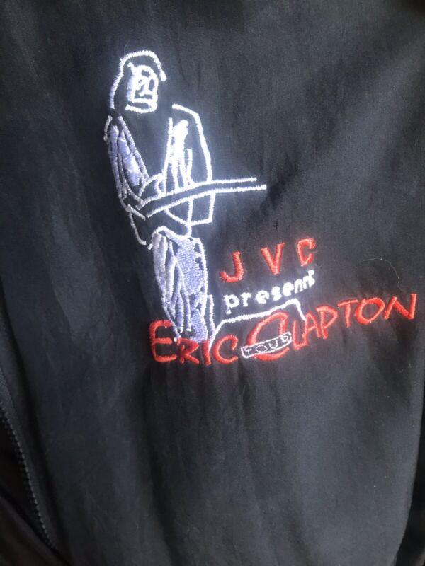 Eric Clapton Rare XL 1992 JVC Tour Silk Jacket Nice!
