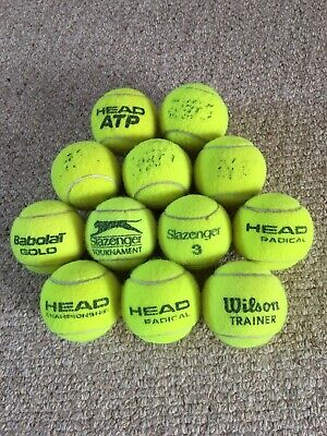 12 Used tennis Balls - Dogs toy (mixed Brands). Clean As Only Used Indoors