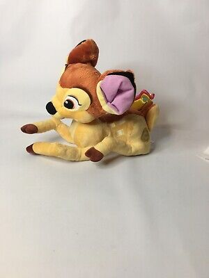 """Disney Store Authentic BAMBI Fawn Butterfly Tail Soft Plush Toy Stuffed 10"""""""