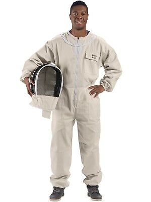 Bees Co U74 Natural Cotton Beekeeper Suit With Fencing Veil Large