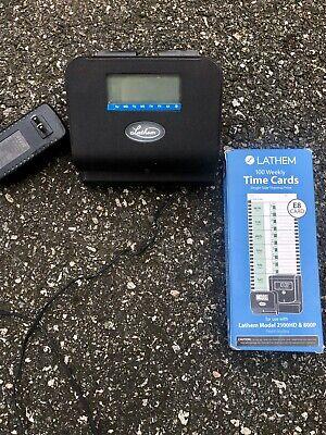 Lathem Machine Thermal Time Recorder Stamp Clock 800p