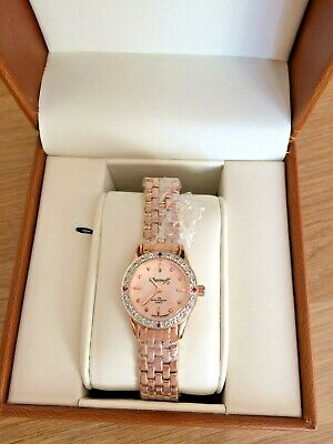 INGERSOLL NEW LADIES ROSE GOLD PLATED GEM SET WATCH BOXED RRP £195