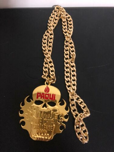 """Paqui One Chip Challenge Collection Champion Necklace Only Gold Color """"NO CHIP"""""""
