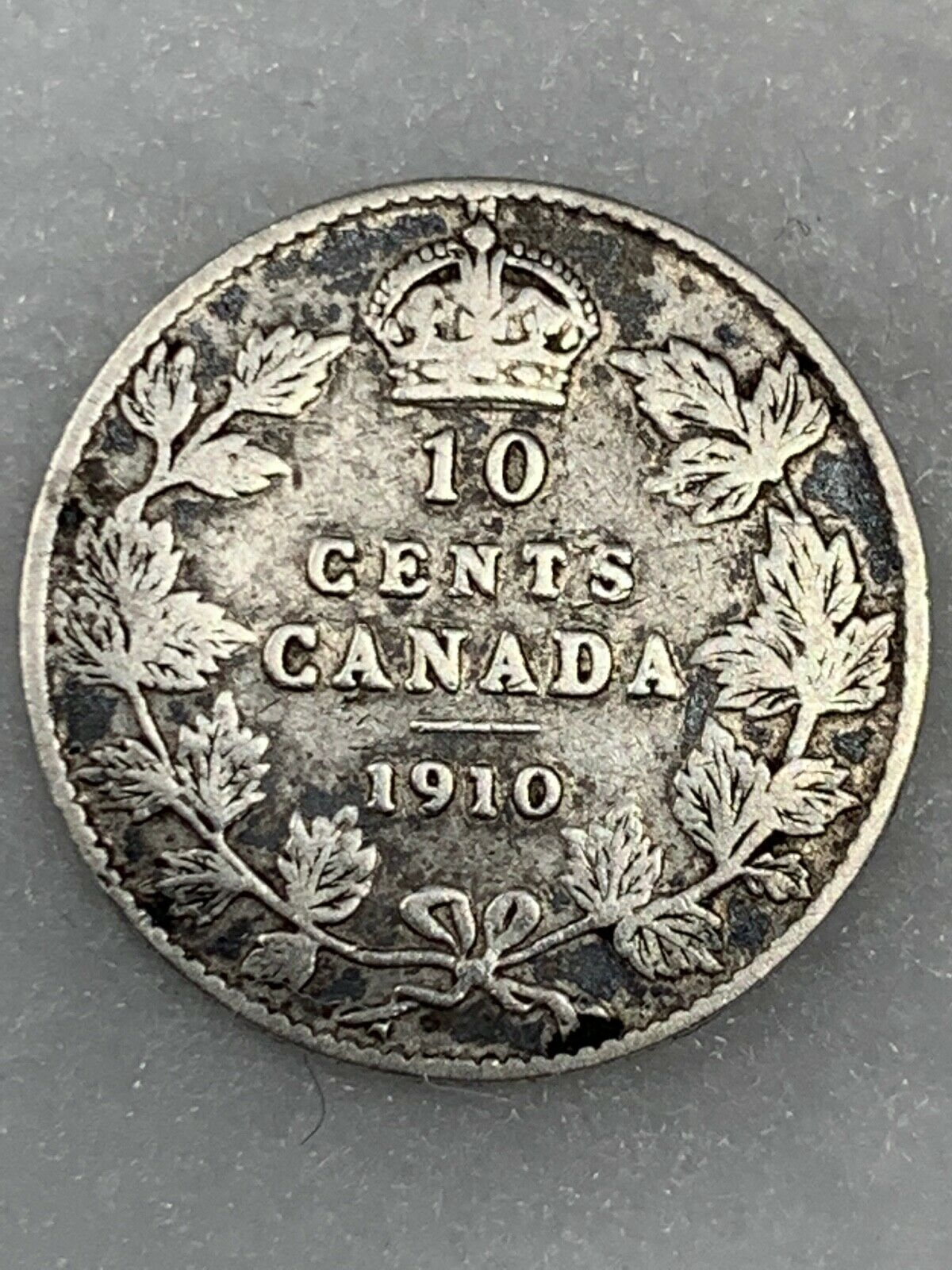 1910 Canadian Dime Or Ten 10 Cents, Circulated, Ungraded And Uncertified - $6.00
