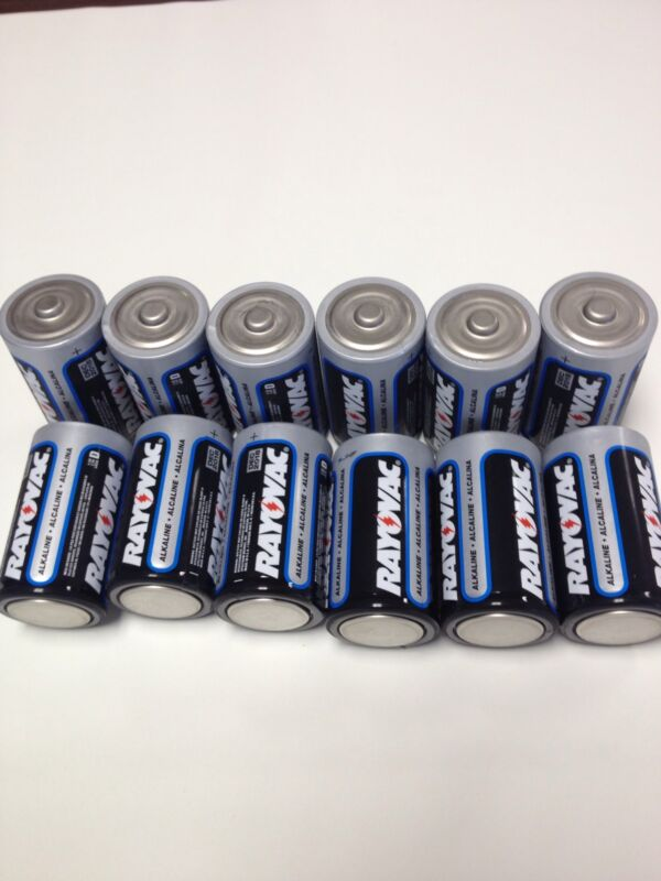 "D Cell Batteries 12 Rayovac ""D"" Cell Alkaline Batteries Exp 2018"