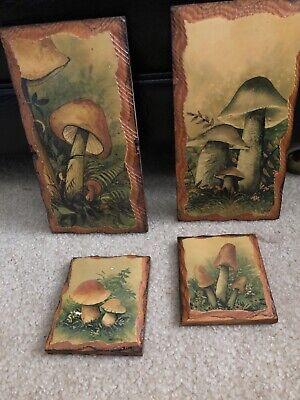 mushroom wall Plaques Mushroom Wall Plaque