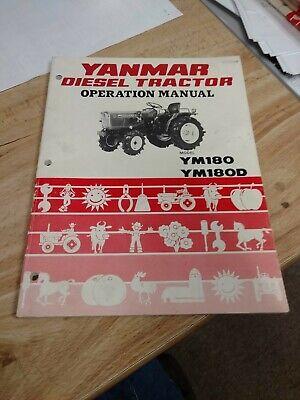 Yanmar Ym180 Ym180d Compact Utility Diesel Tractor Owner Operator User Manual