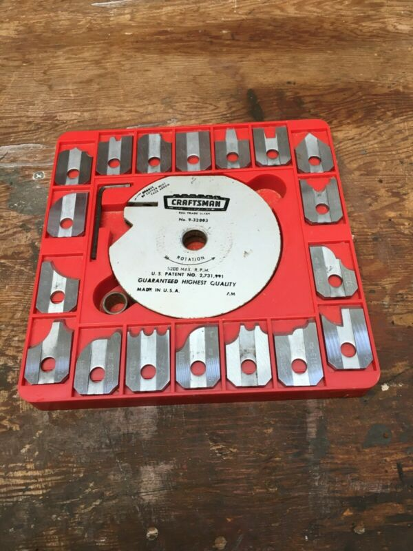 Craftsman Table Saw Moulding Head with 18 Cutters