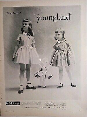 1953 Kleine Mädchen Kleid Kleider von Youngland Vintage Mode Anzeige