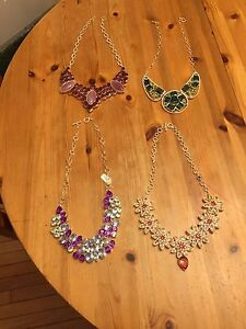 Four Betsey Johnson Statement Necklaces-brand new