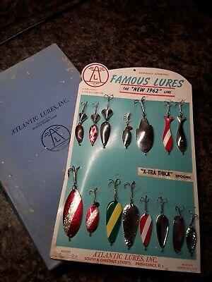 Vintage Fishing Lures on Advertising Card