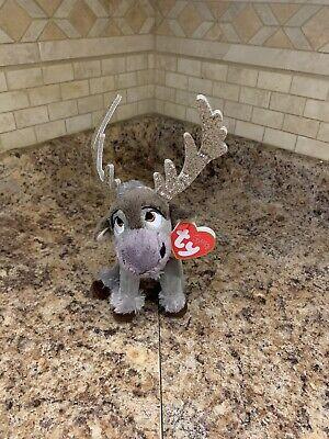 "New TY Original SVEN REINDEER 8"" Stuffed Plush Animal Toy (Sparkle Frozen 2)"