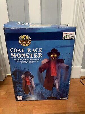 RARE Spirit Halloween Coat Rack Monster Animatronic