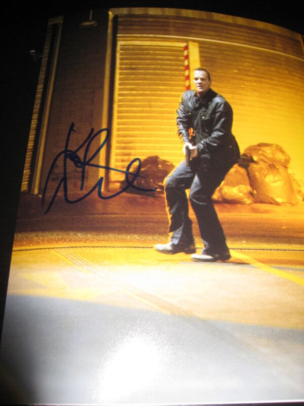 KIEFER SUTHERLAND SIGNED AUTOGRAPH 8x10 PHOTO 24 PROMO LIVE ANOTHER DAY COA Z